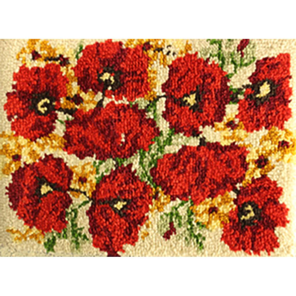 Poppies Latch Hook Rug Kit