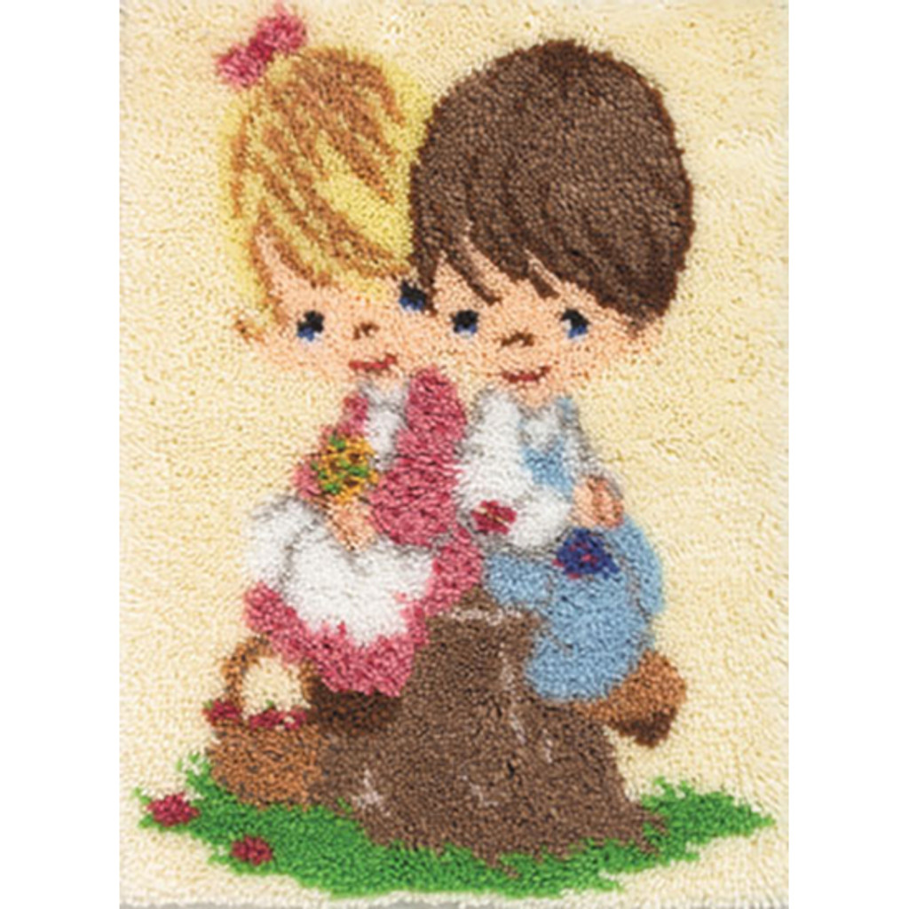 Love One Another Latch Hook Rug Kit