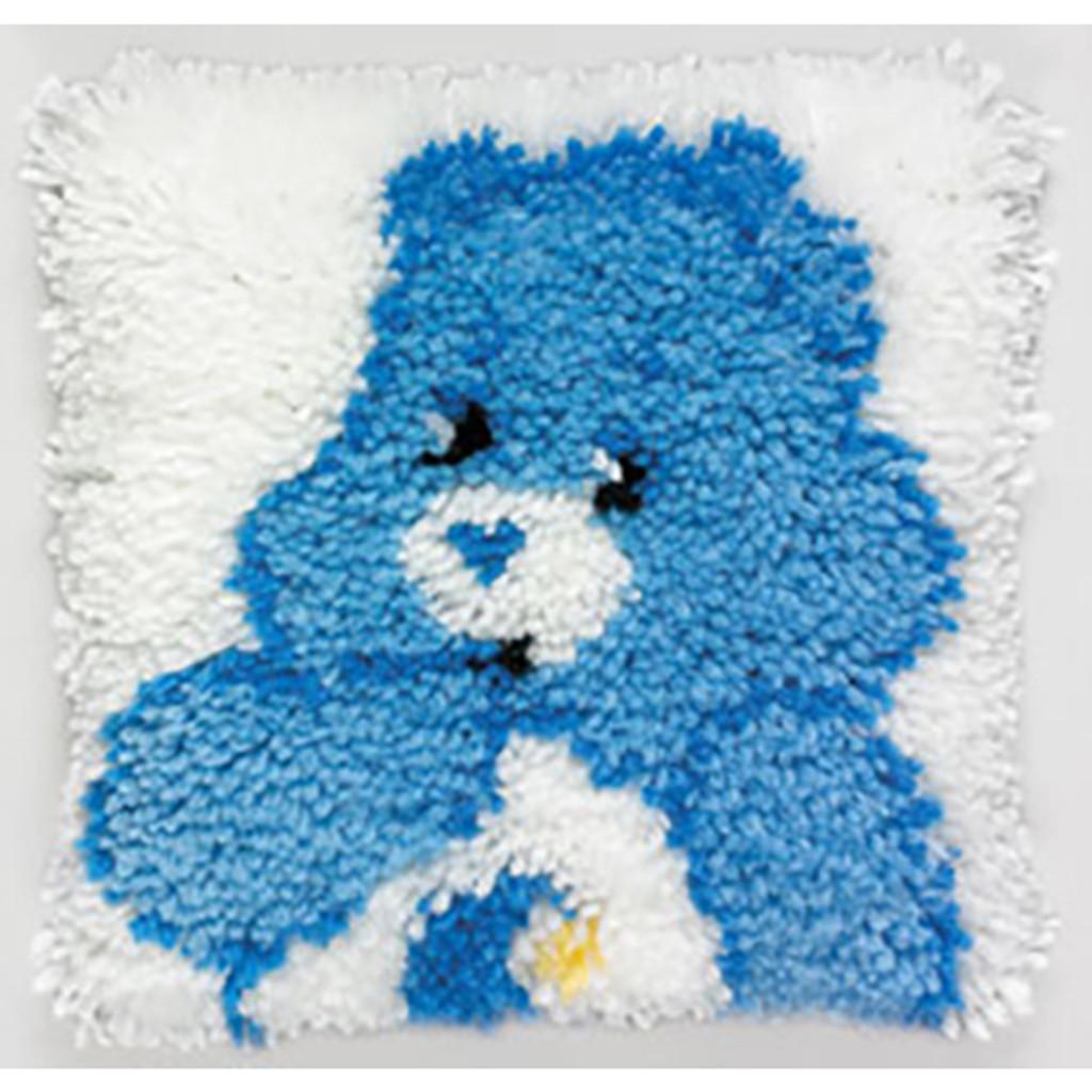 Bedtime Bear Latch Hook Pillow Kit