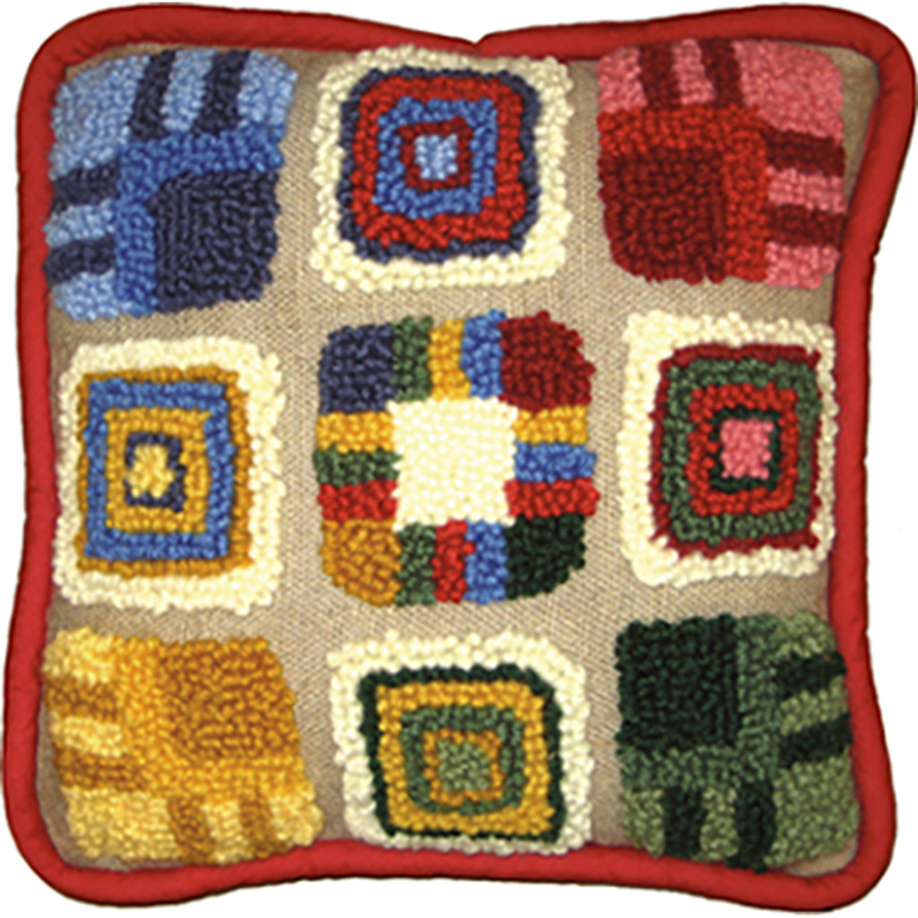 Patchwork Punch Needle Pillow Kit