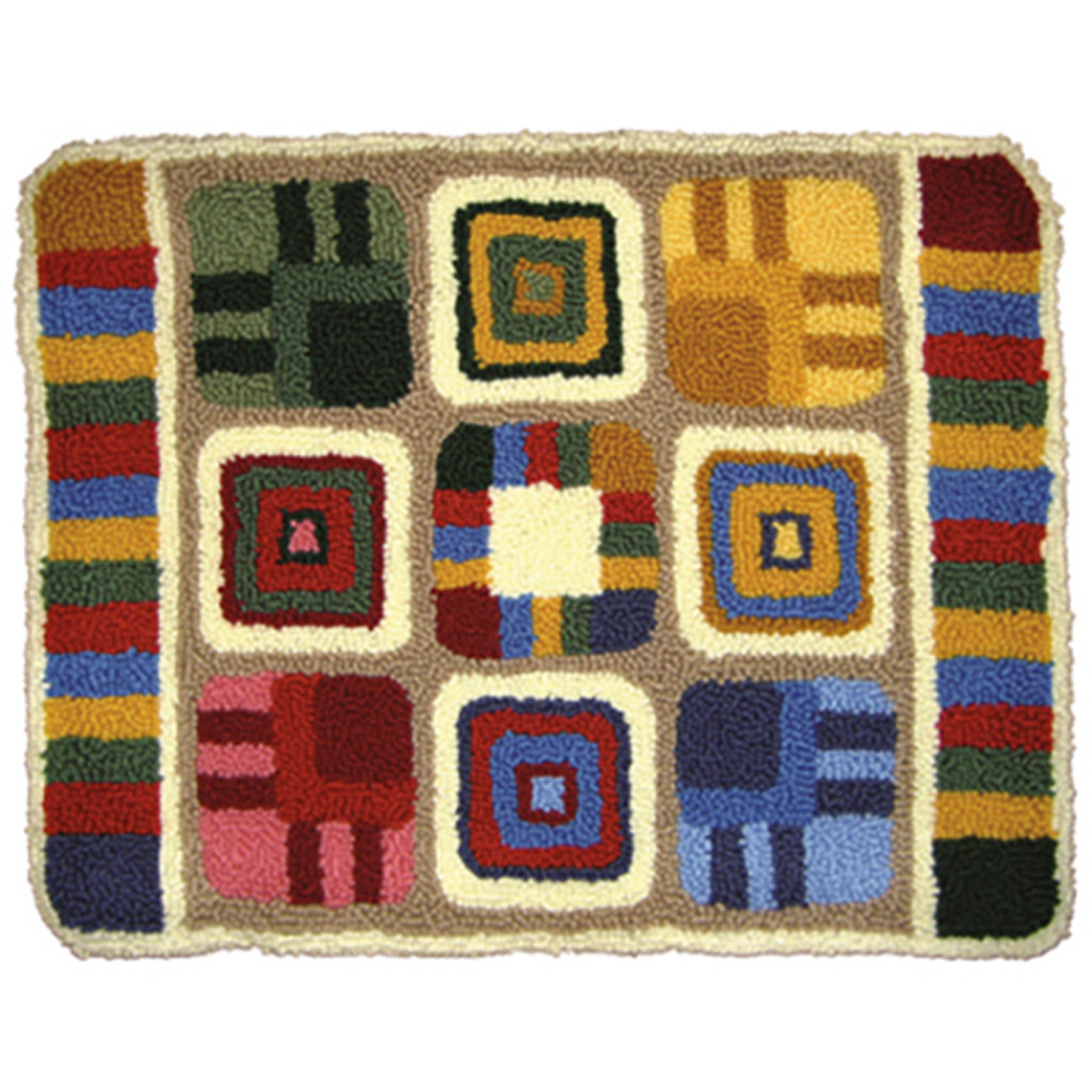 Patchwork Punch Needle Rug Kit