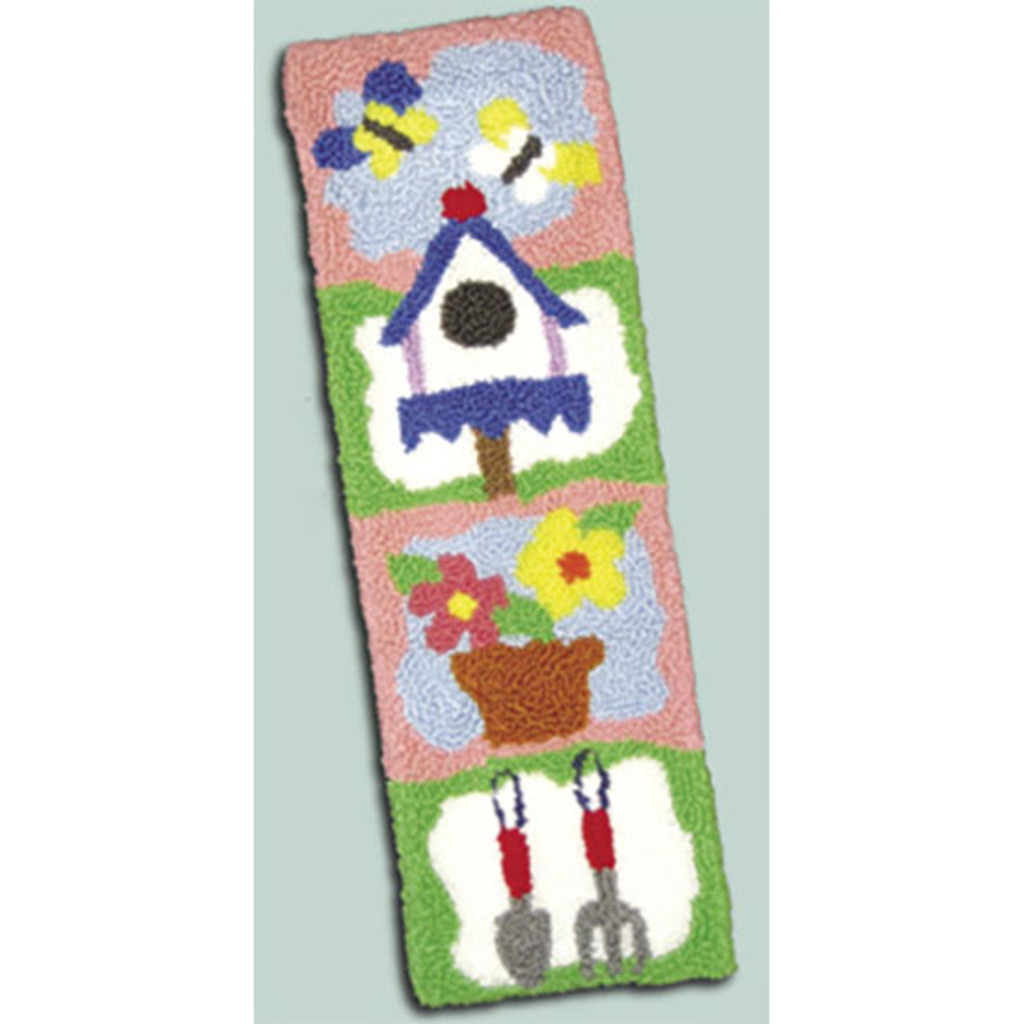 Garden Bell Pull Punch Needle Rug Kit