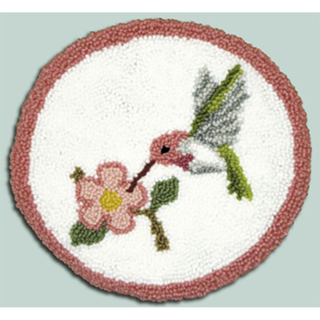 Hummingbird Punch Needle Pillow Kit