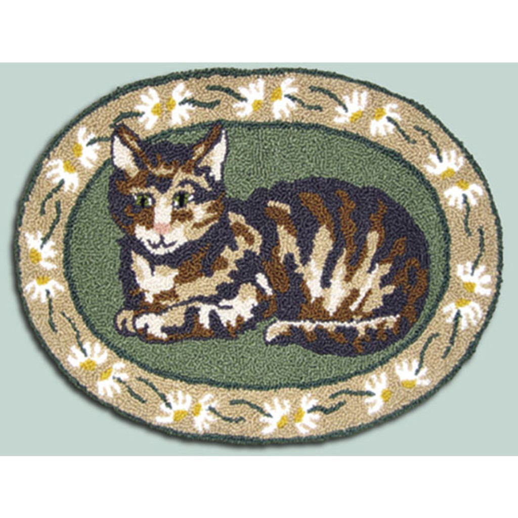 Cat Nap Punch Needle Rug Kit