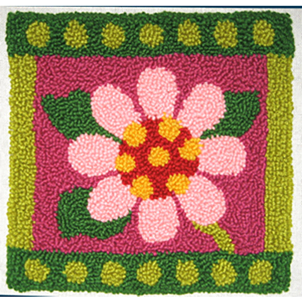 Geometric Floral  Punch Needle Pillow Kit