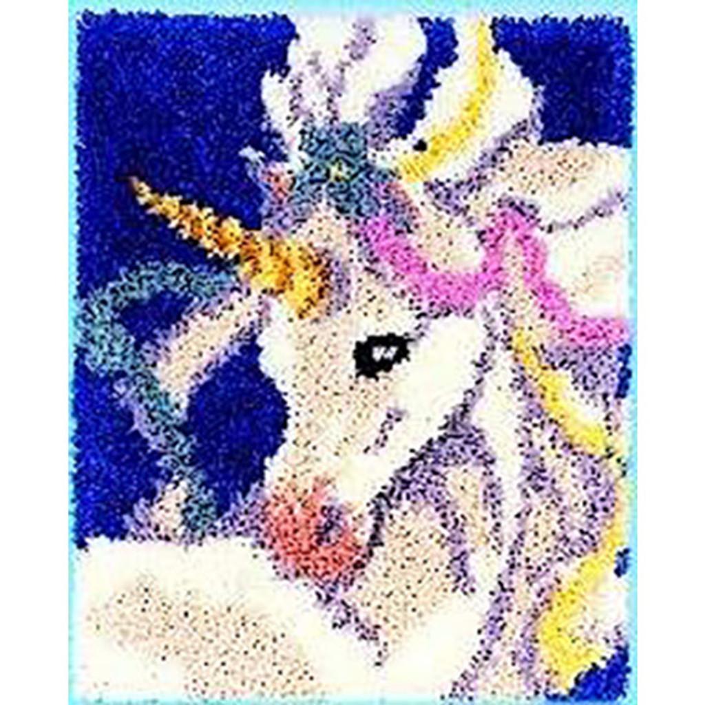 Sweet Unicorn Latch Hook Rug Kit