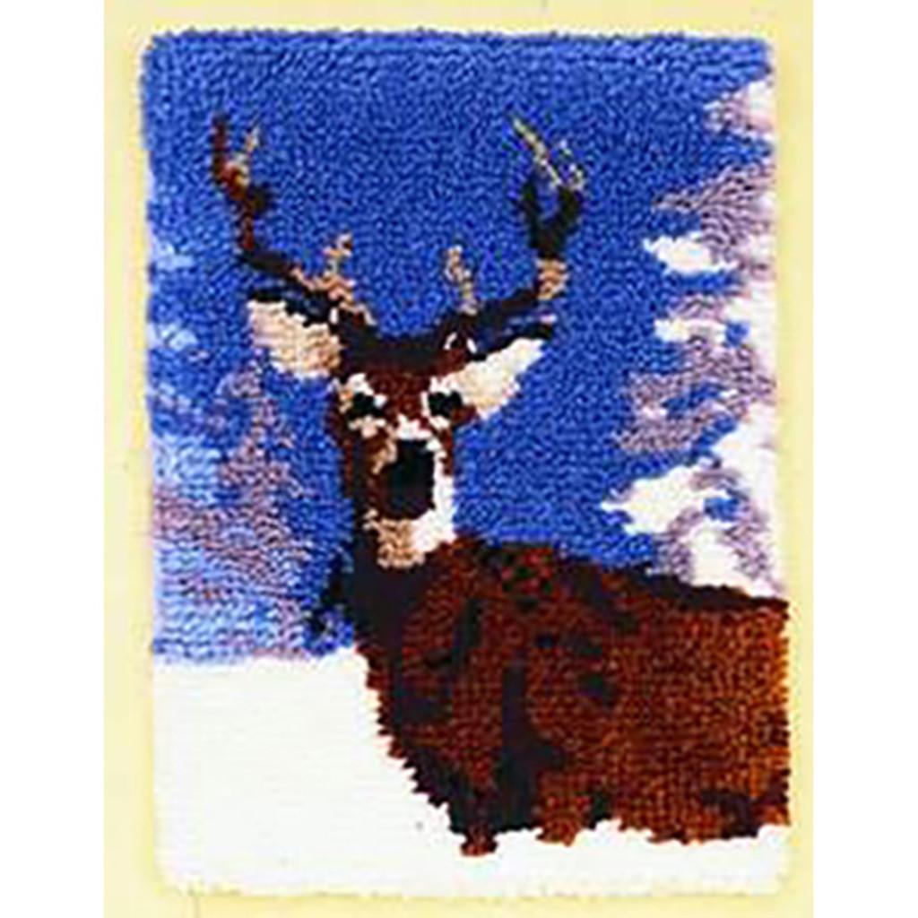 Winter Deer Latch Hook Rug Kit