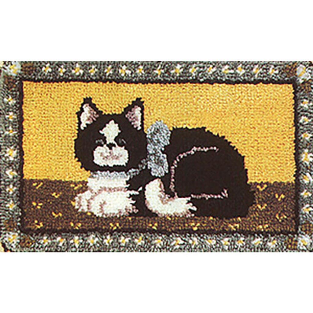 Purr-fect Kitty Latch Hook Rug Kit