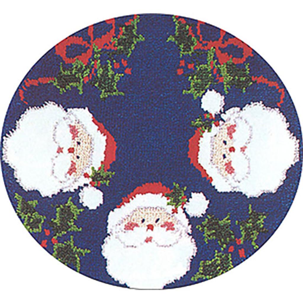 Santa Latch Hook Christmas Tree Skirt
