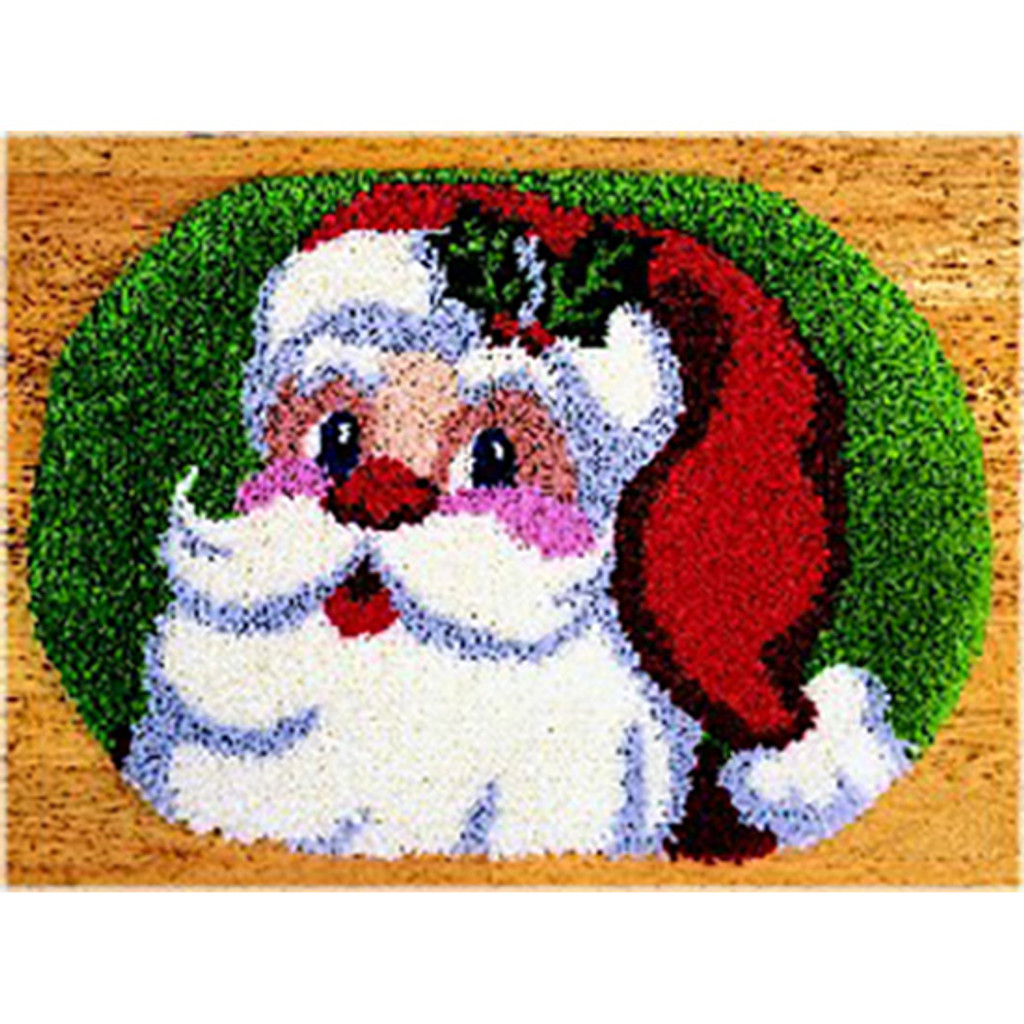 Jolly Santa Rug Latch Hook Rug Kit
