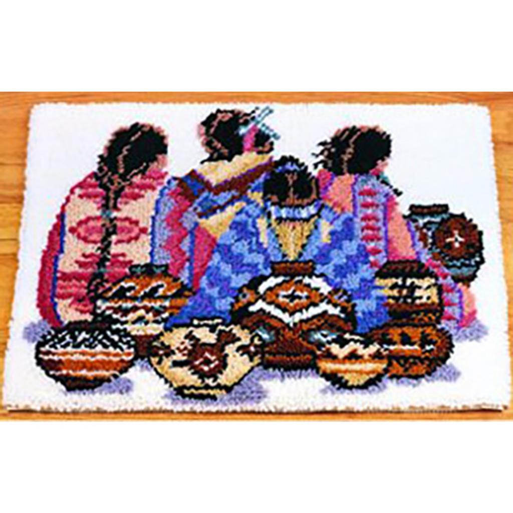 Indian Artistry Latch Hook Rug Kit