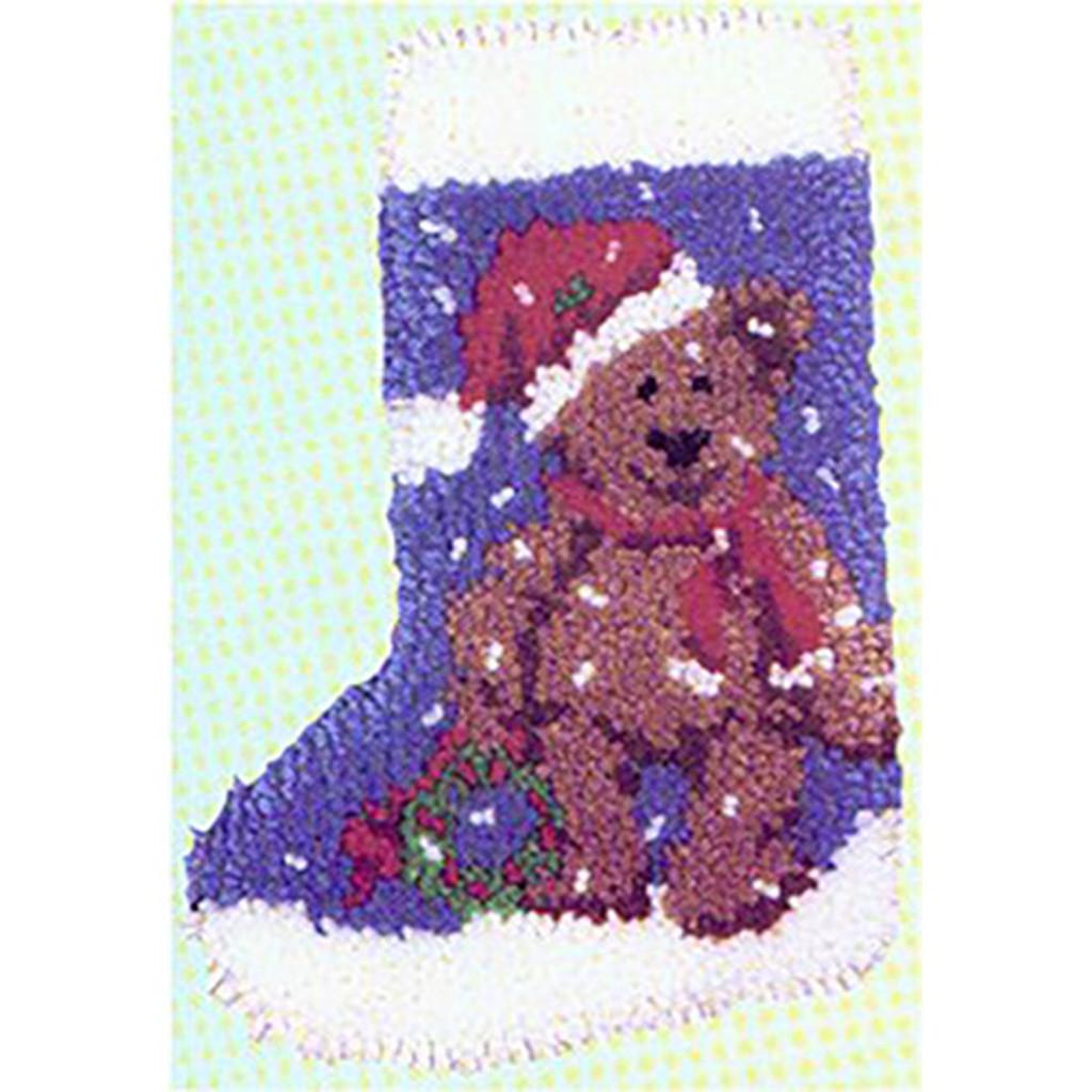 Teddy Latch Hook Christmas Stocking Kit