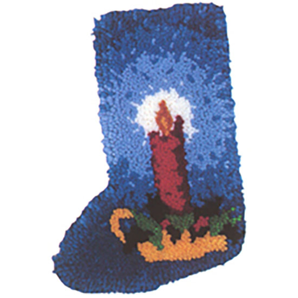 Candle Latch Hook Christmas Stocking Kit