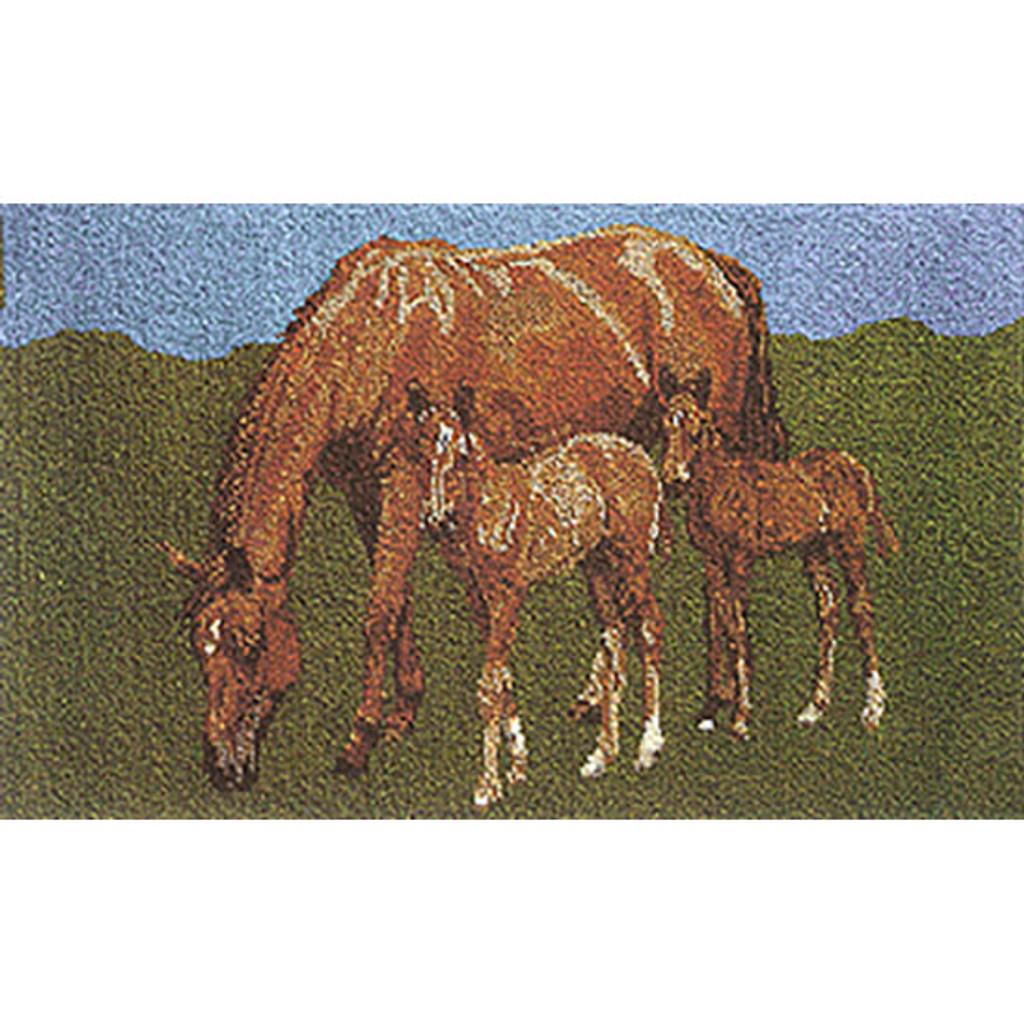 Newmarket Horse Latch Hook Rug Kit