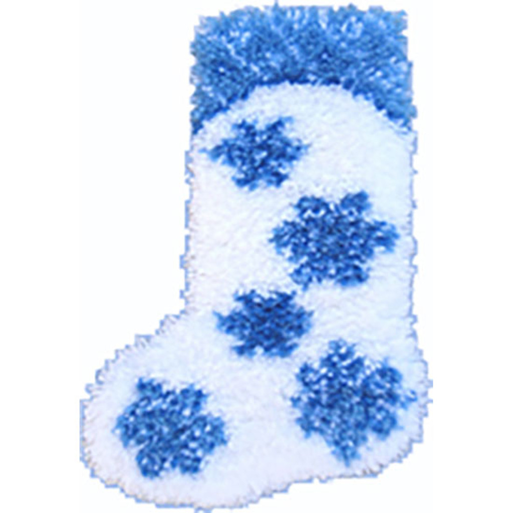 Snowflake Latch Hook Christmas Stocking Kit