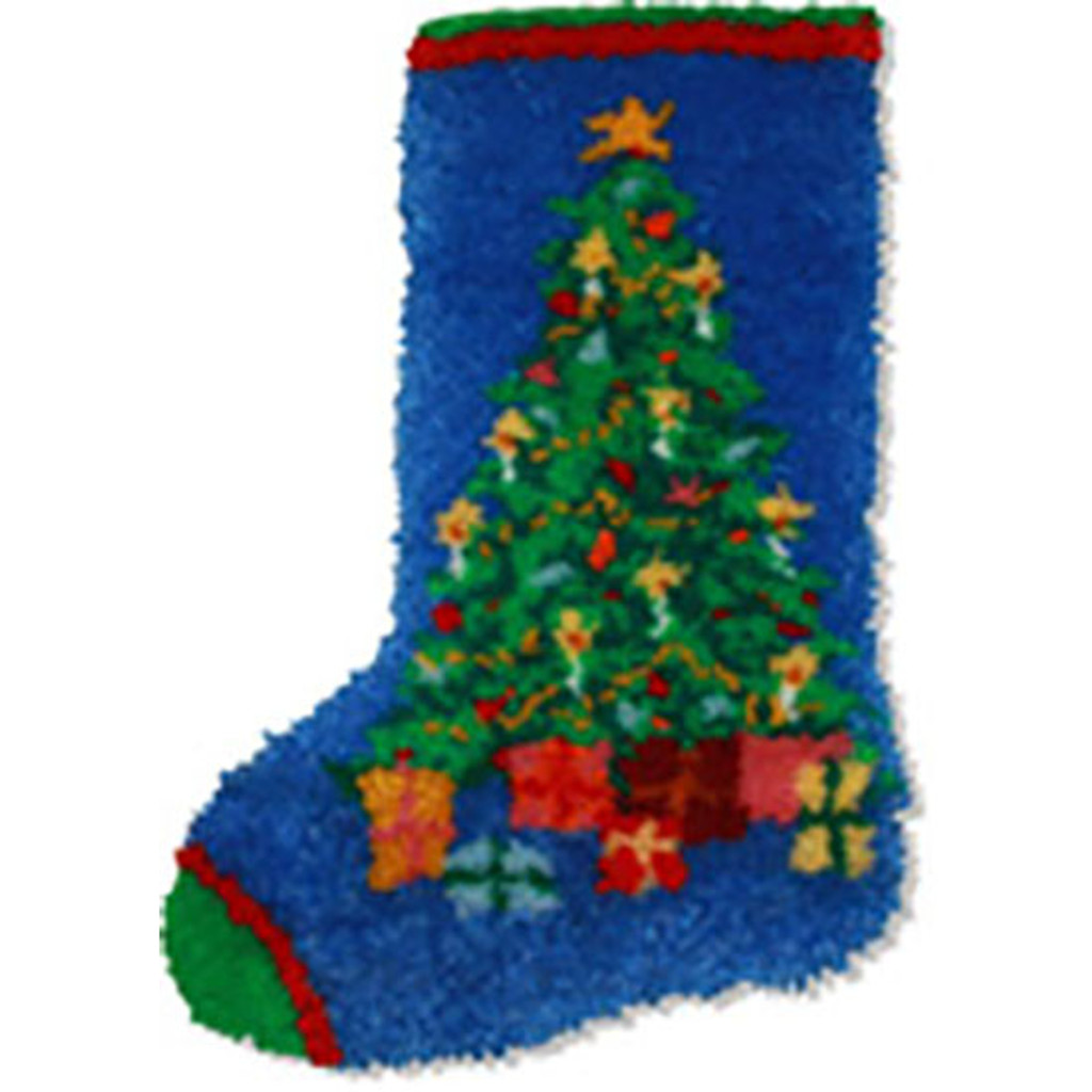 Christmas Tree Latch Hook Stocking Kit