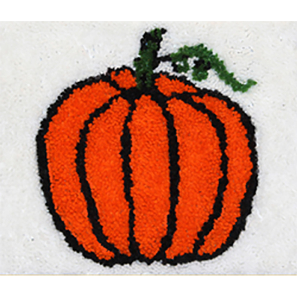 Pumpkin Latch Hook Rug Kit