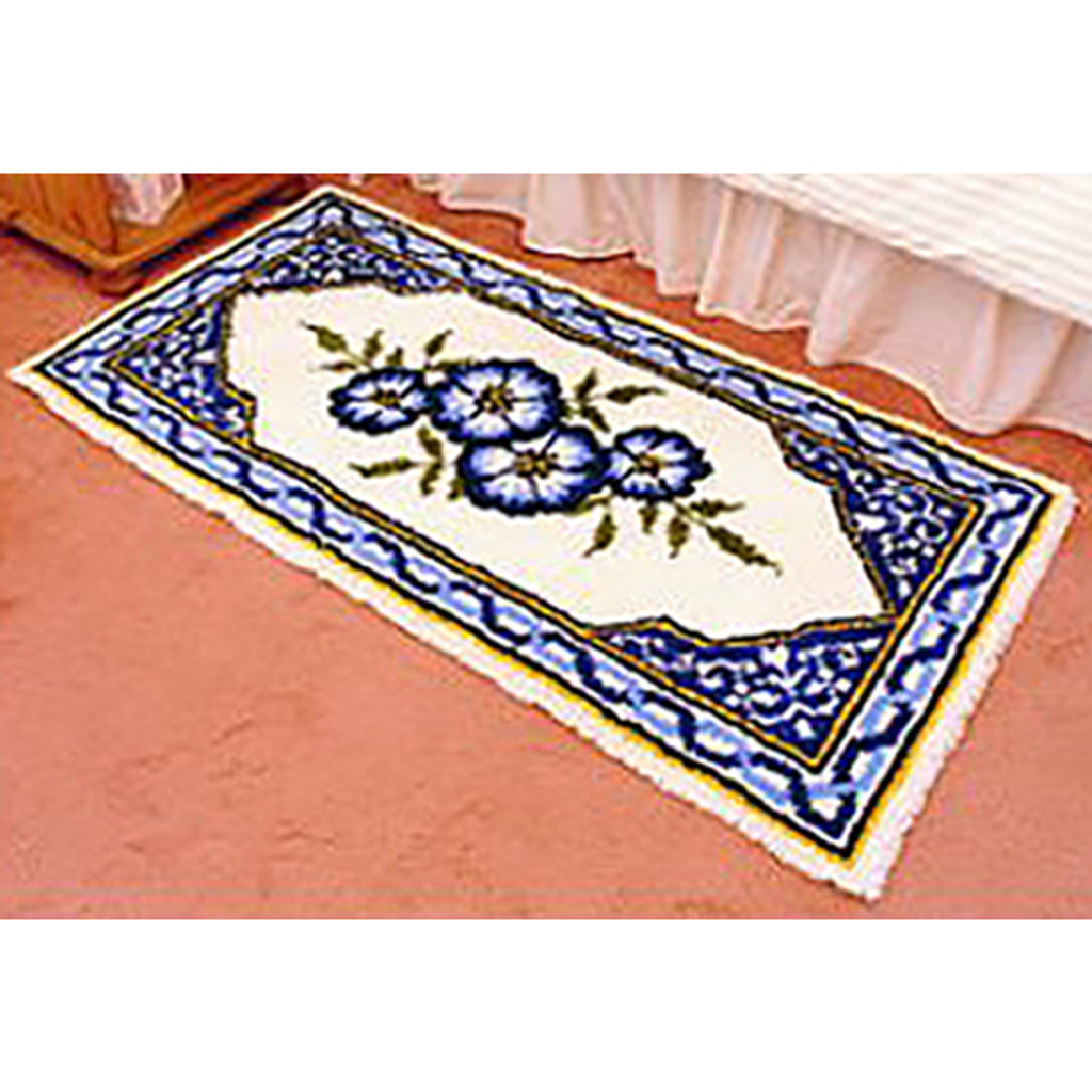 Morning Glories  Latch Hook Rug Kit