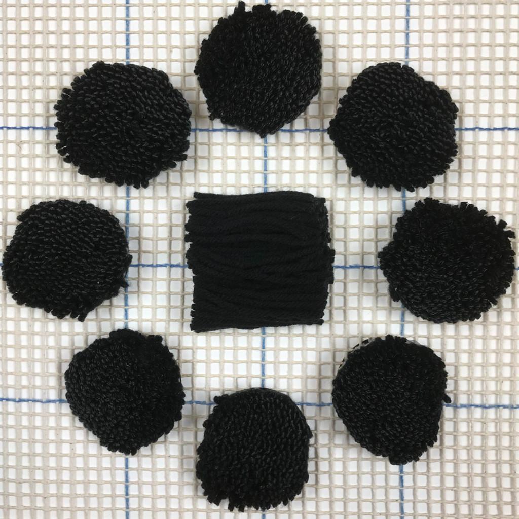 Black Pre-cut Latch Hook Yarn