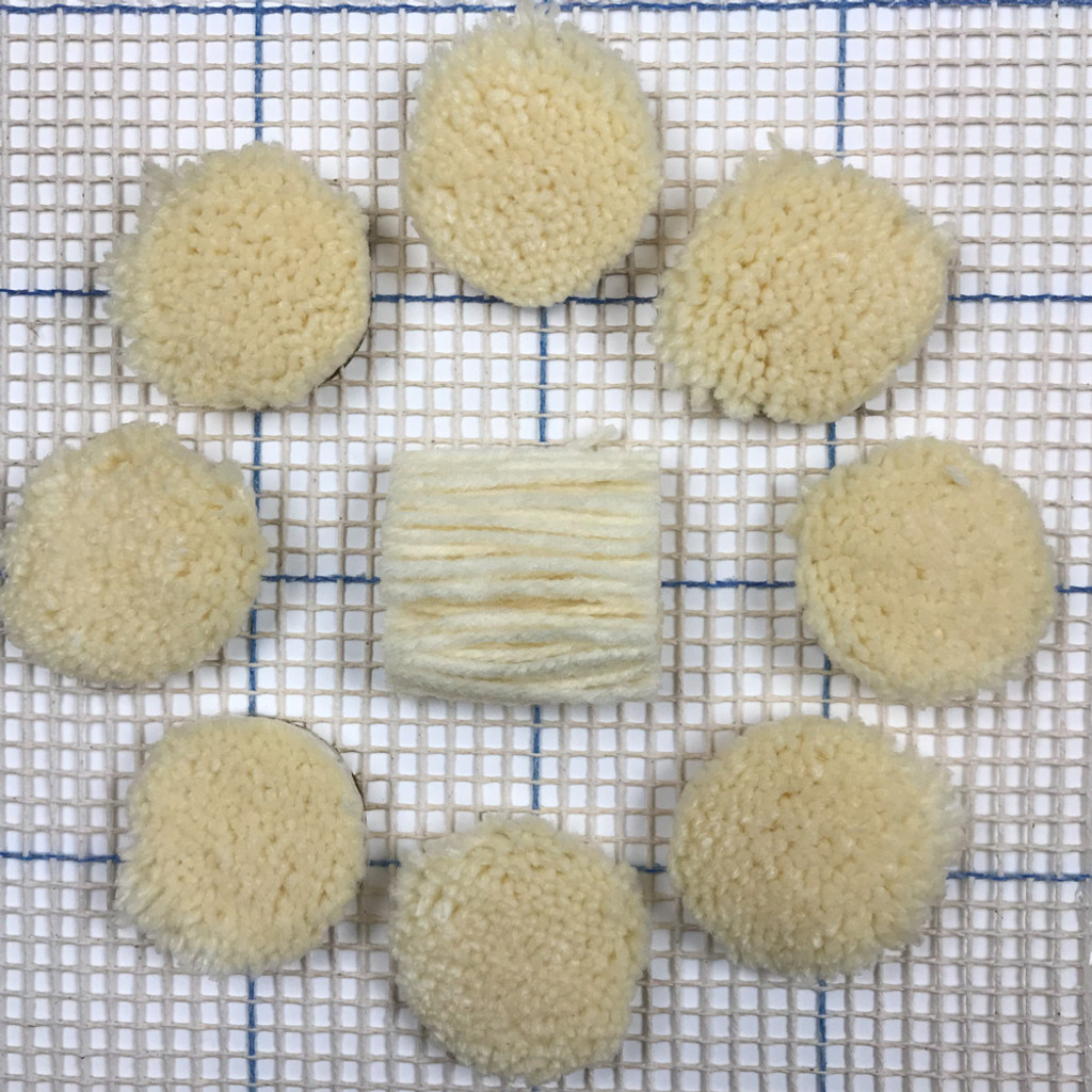 Ivory Pre-cut Latch Hook Yarn