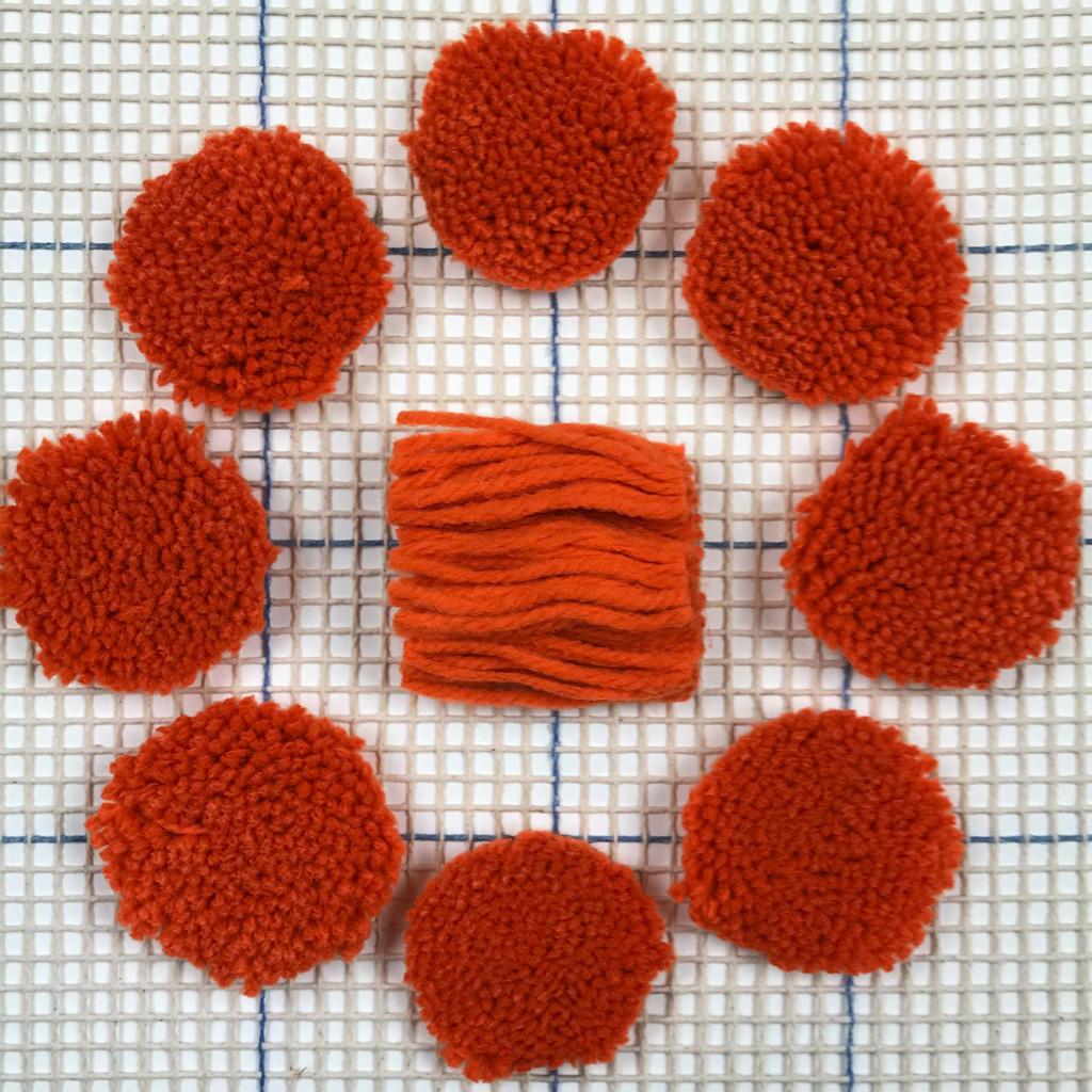 Bright Orange Pre-cut Latch Hook Yarn
