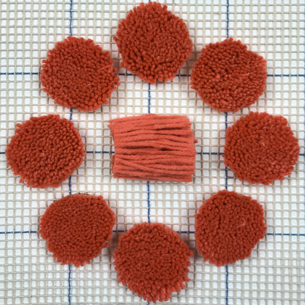 Light Rust Pre-cut Latch Hook Yarn