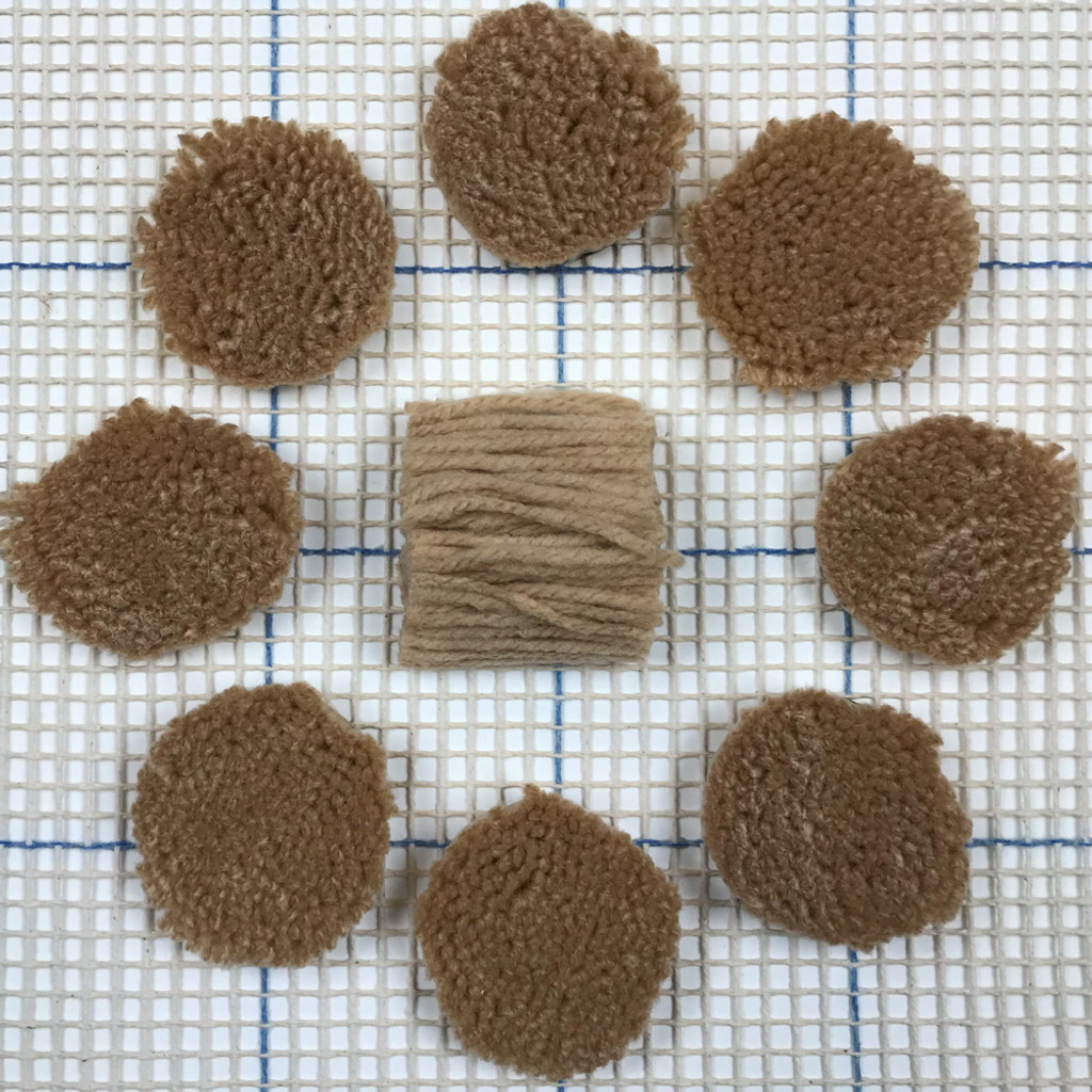 Tan Pre-cut Latch Hook Yarn