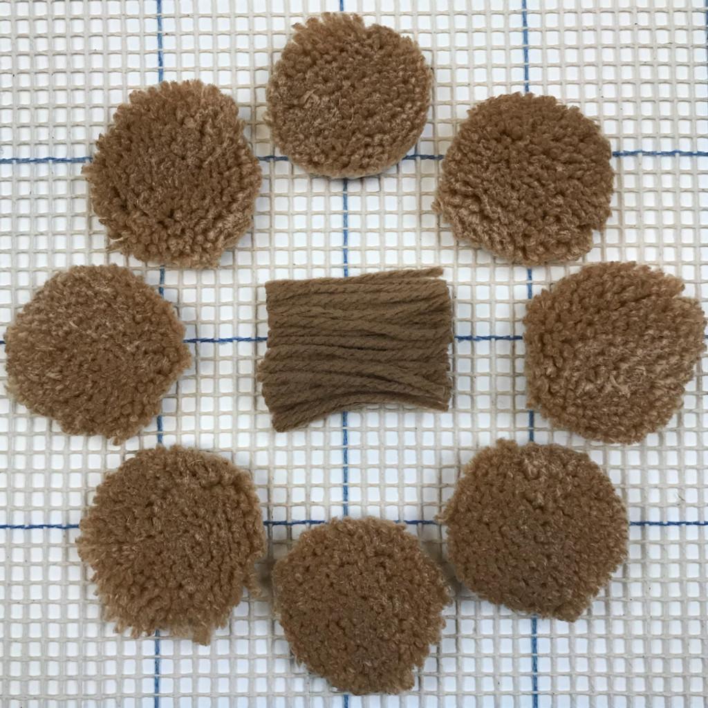 Light Brown Pre-cut Latch Hook Yarn