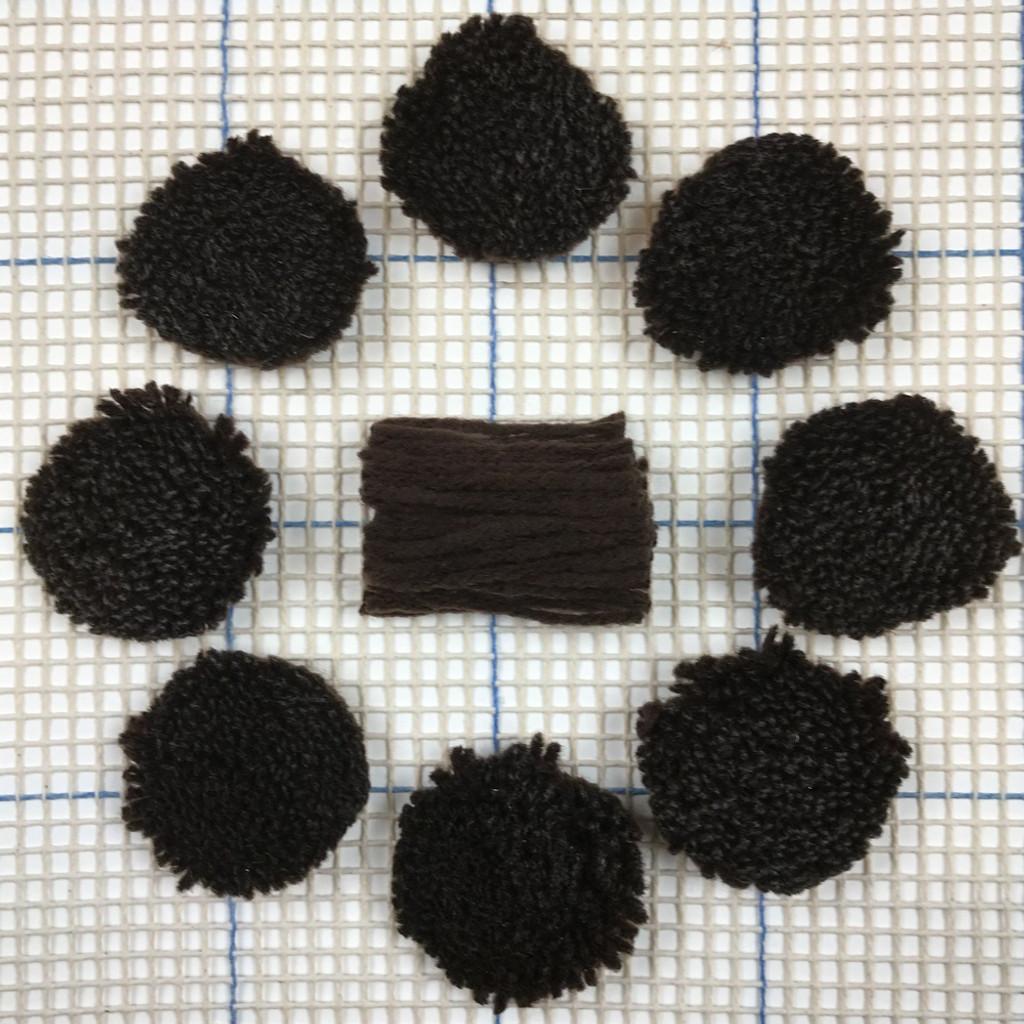 Dark Brown Pre-cut Latch Hook Yarn