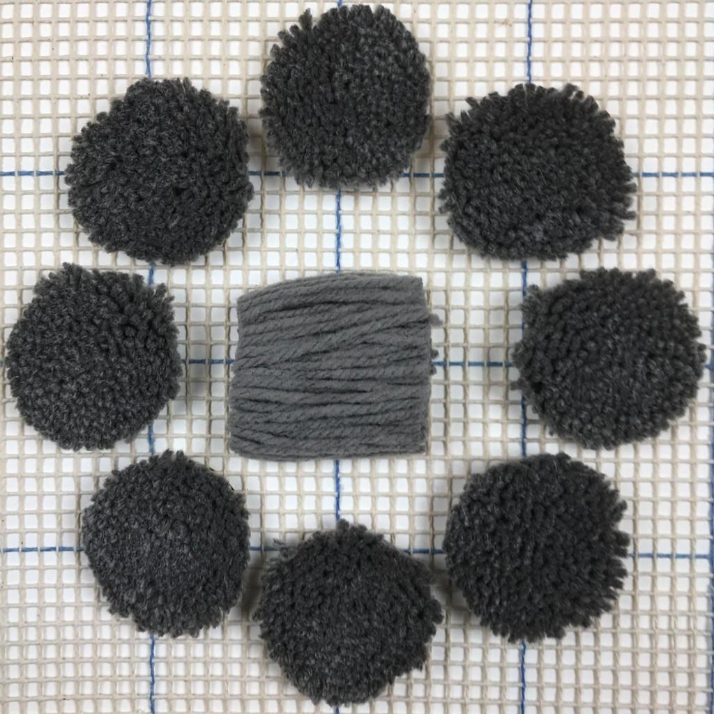 Grey Pre-cut Latch Hook Yarn