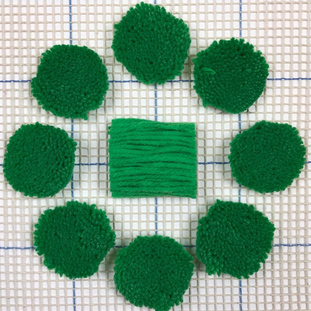Bright Green Pre-cut Latch Hook Yarn