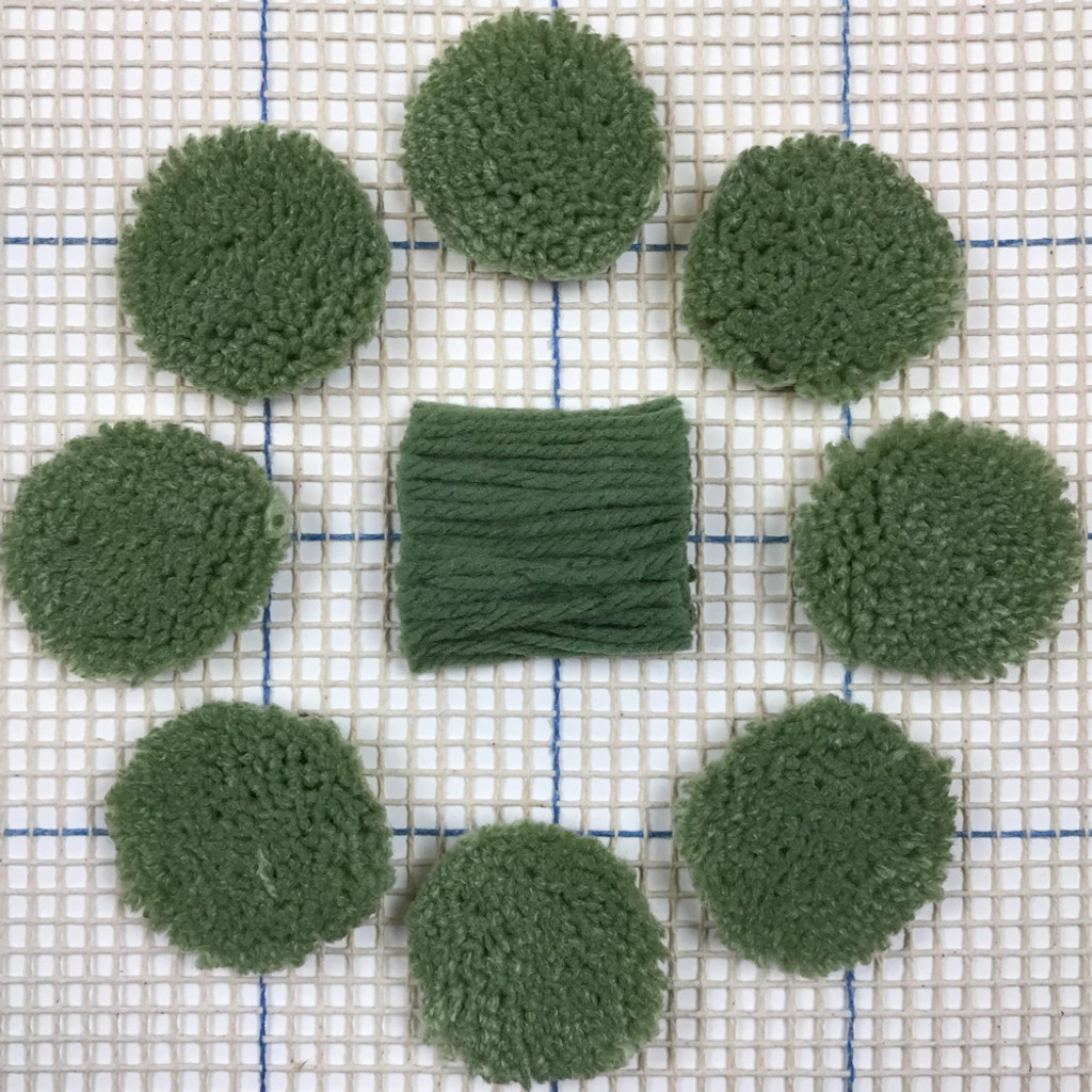Forest Green Pre-cut Latch Hook Yarn