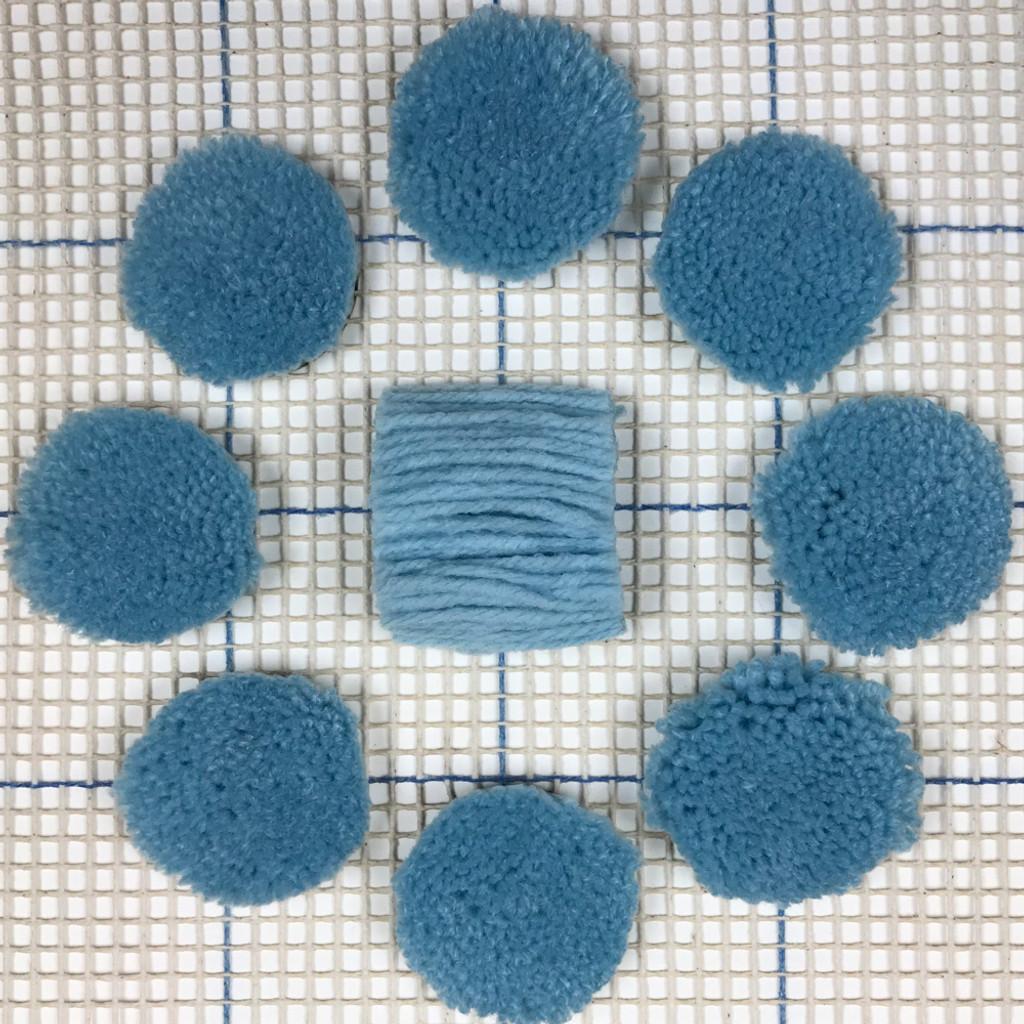 Very Light Blue Pre-cut Latch Hook Yarn