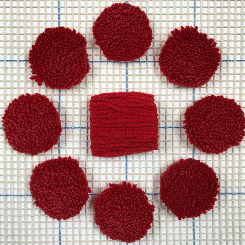 Cherry Pre-cut Latch Hook Yarn