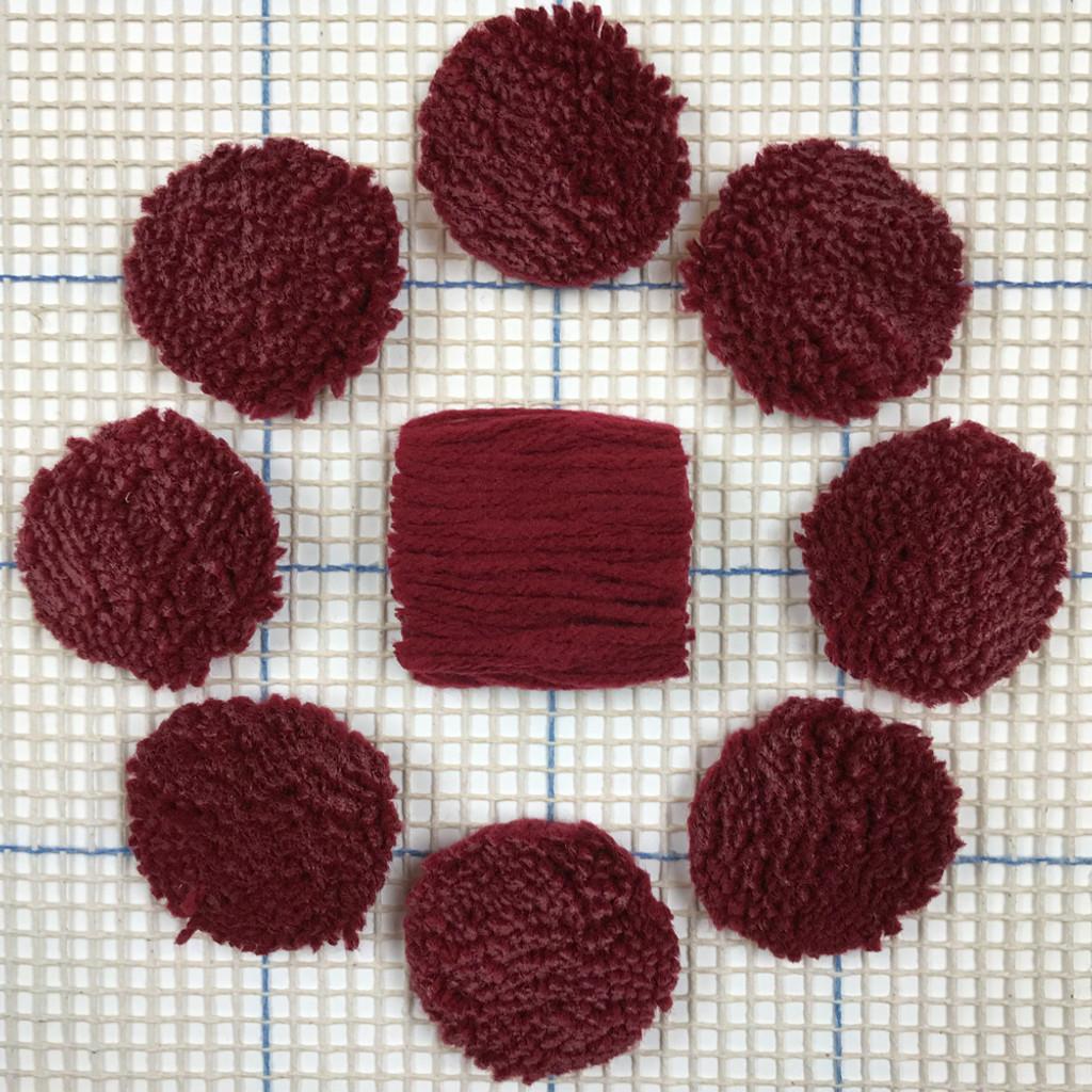 Light Burgandy Pre-cut Latch Hook Yarn