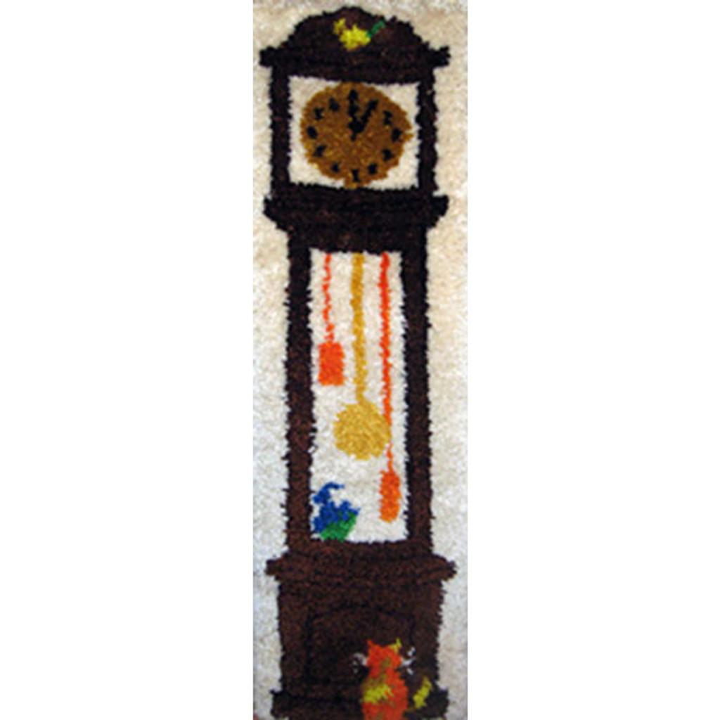 Grandfather Clock Latch Hook Rug