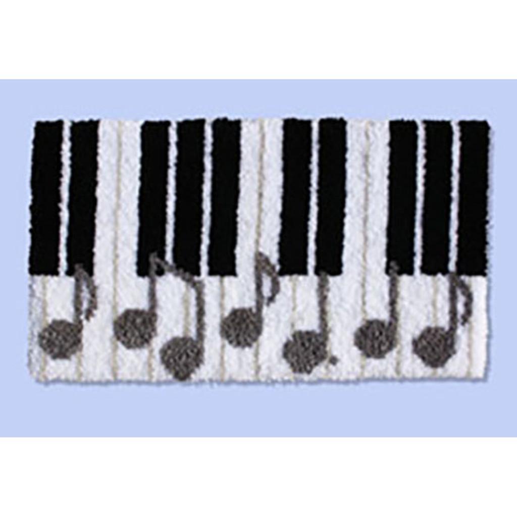Piano Keys Latch Hook Rug