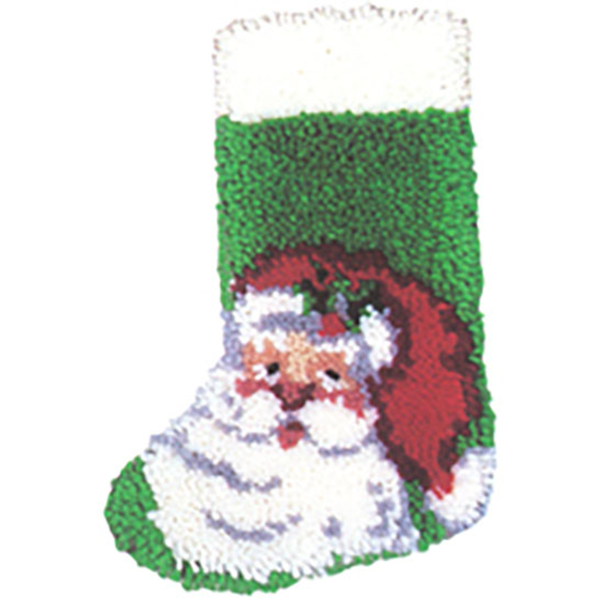 Christmas Stocking Kit.Santa Latch Hook Christmas Stocking Kit