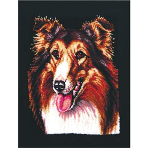 Collie Latch Hook Rug Kit