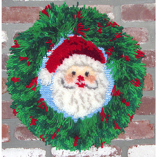 Santa Wreath Latch Hook Kit