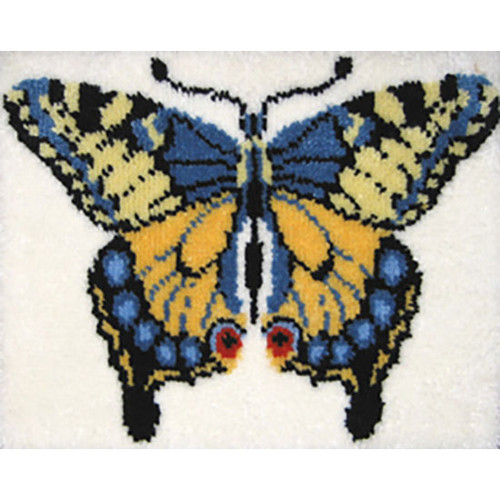 Swallowtail Butterfly Latch Hook Rug Kit