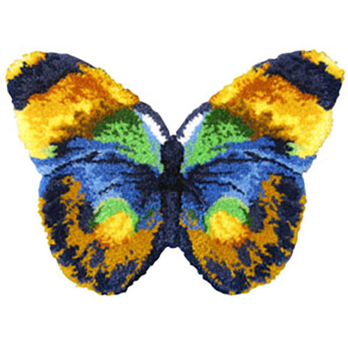 Butterfly Shaped Latch Hook Rug Kit
