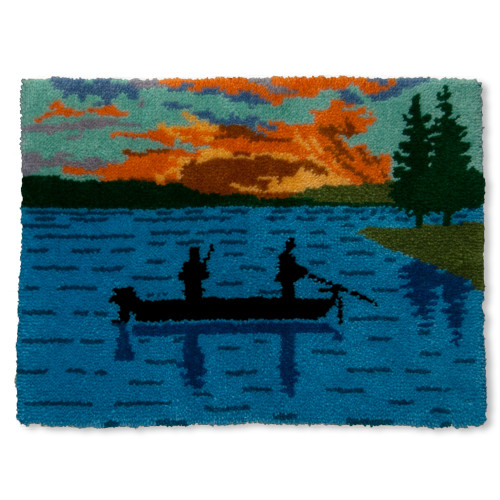 Fishing at Sunset Latch Hook Kit