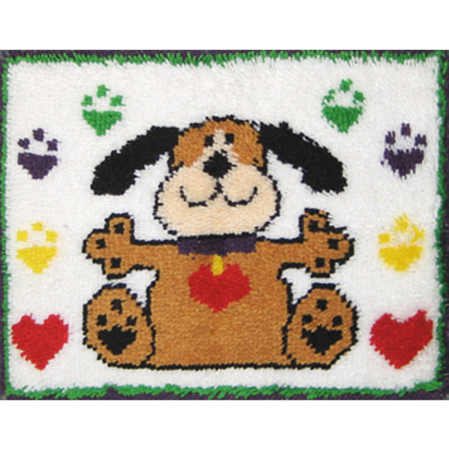 Puppy Paws Latch Hook Rug Kit