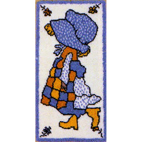 Poppies Girl Latch Hook Rug Kit