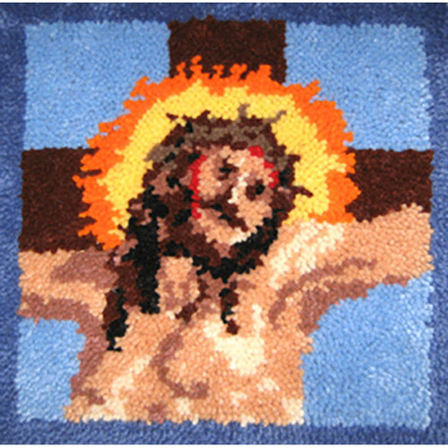 Calvary Pillow Top Latch Hook Rug Kit