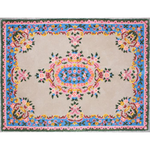 Traditional Floral Latch Hook Rug Kit