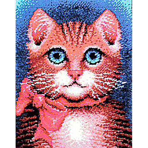 Pretty Kitty Latch Hook Rug Kit
