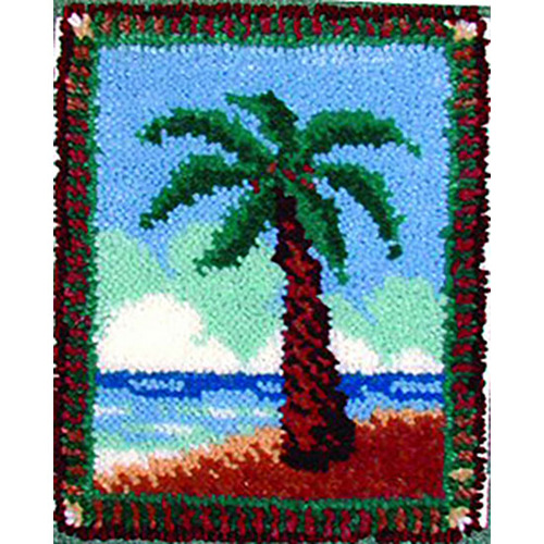 Desert Palm Latch Hook Rug Kit