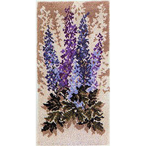 Delphinium Latch Hook Rug Kit